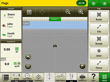 Creación de marcadores para marcar elementos del campo