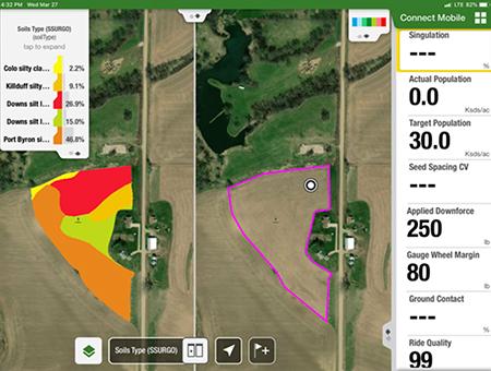 Visualice capas de mapas de terceros en Connect Mobile