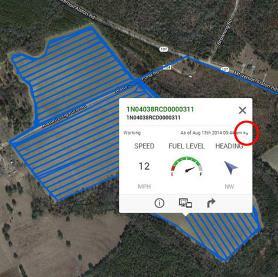 Siga el avance del trabajo y la información de la máquina en el indicador de esta. Observe el enlace de actualización encerrado en un círculo.