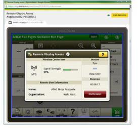 RDA mostrando la pantalla CommandCenter™ 4600 – vista remota