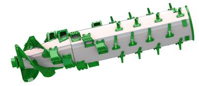 Sección transversal del rotor TriStream
