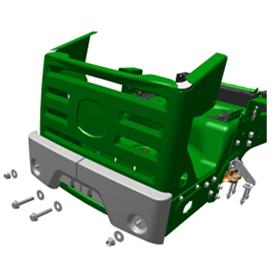 Ilustración de la defensa trasera de la podadora ZTrak™