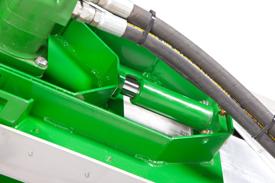 Tensionamiento de cadena con cilindro engrasado