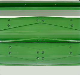 Vista en detalle de los rodillos de acondicionamiento de acero Tri-Lobe