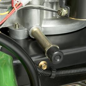 La válvula de vaciado de aceite no requiere herramientas