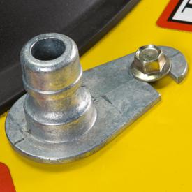 Boca de limpieza de la plataforma de corte de césped
