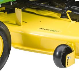 Las ruedas de la plataforma de corte tienen un anclaje doble