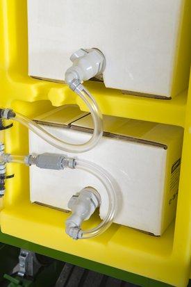 Conectores y válvula de retención en línea