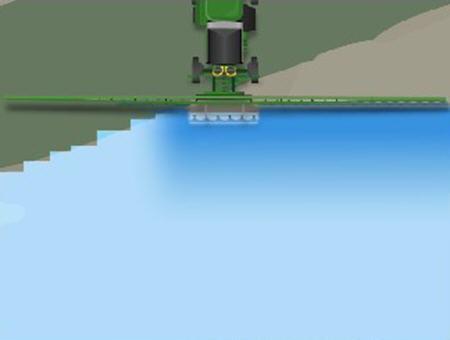 Evite pulverizar cursos de agua sin dejar de garantizar la cobertura