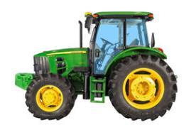 Tractor con cabina de la Serie 6D