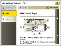 Context-based help on iTEC™ system main page