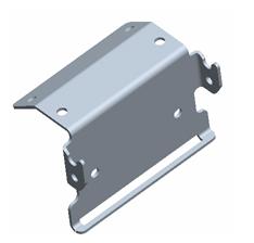 Combine StarFire position receiver bracket