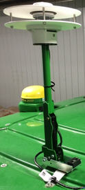 John Deere Mobile Weather mounted on the roof of a self-propelled sprayer