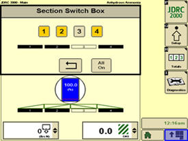 On-screen switch box