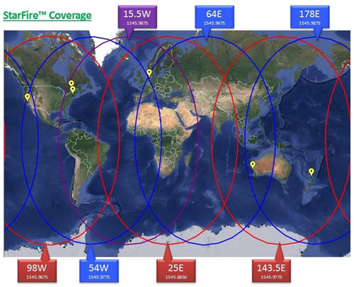 StarFire network coverage