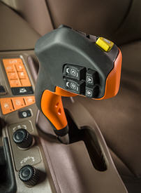 Hydraulic fore-aft multifunction control lever