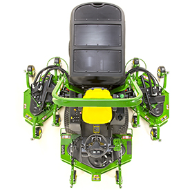 Wide-area mower (WAM) top view