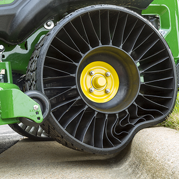 Flat-free rear tire on ZTrak™ Mower