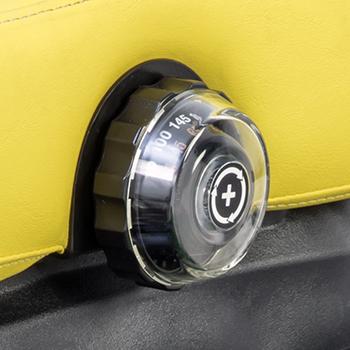 Mechanical suspension seat adjustment