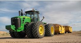 9630 Scraper Tractor and 2112E Ejector Scrapers