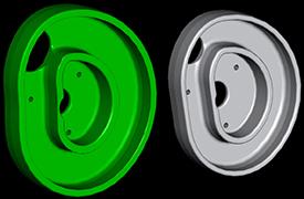 Premium cam track and standard cam track