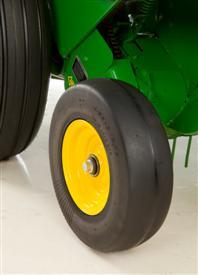 Semi-pneumatic gauge wheel