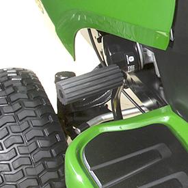 Brake/parking brake pedal