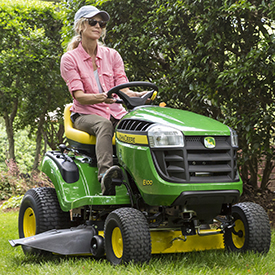 Mowing with 107-cm (42-in.) mower deck