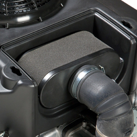 Cover removed to show air filter