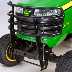 Brush guard installed on Signature Series Tractor