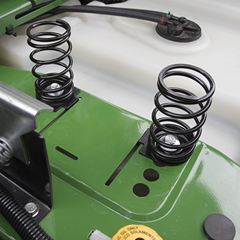 Seat springs in forward position