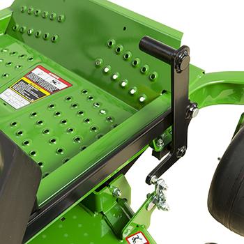 Mower deck lift pedal