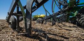 P500 fertilizer shanks engaged in the ground
