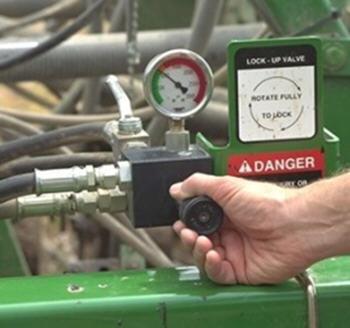 Active hydraulic downforce pressure valve