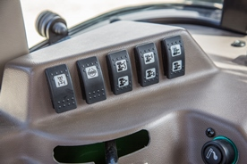 Comfort implement control shown on the 5GF