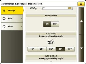 Automatic MFWD angle adjustment