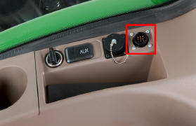 ISO 11783 location in R-Series Tractor cab