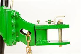 Vista lateral do engate ajustável