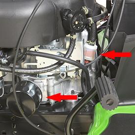 Filtros de combustível e óleo do motor fáceis de manter