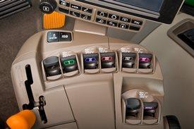 Console de alavanca e botões padrão
