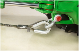 Ponto de conexão do cabo de reboque traseiro