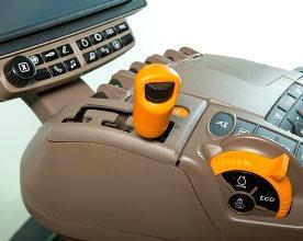 Alavanca de câmbio e acelerador manual