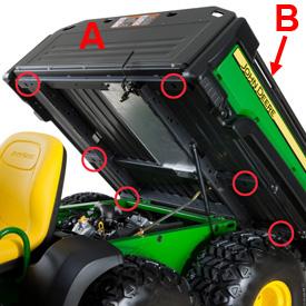 Pontos de amarração adicionais no compartimento de carga