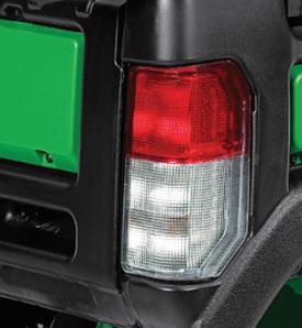 Lanterna e luz de freio com protetor