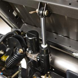 Elevação hidráulica da caixa de carga