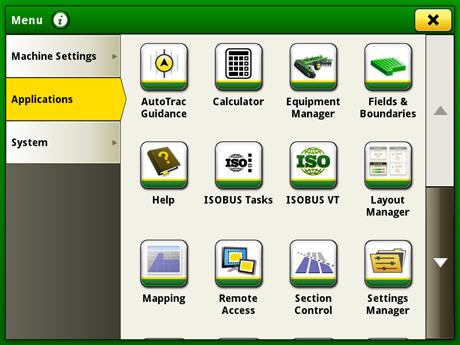 Page de sélection du gestionnaire de configuration