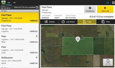L'utilisateur peut voir les limites du champ sur une carte