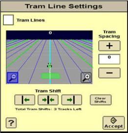 Écran de gestion des interlignes de roulement