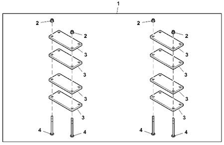 Colis de masses d'alourdissement de 8,2kg (18lb)