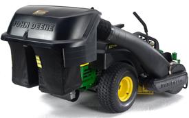 Angle arrière du sac récupérateur d'herbe arrière PowerFlow™ de 230l (6,5boisseaux) illustré sur le modèleZ525E